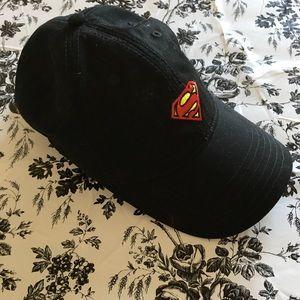 DC Comics Superman Black Baseball Cap